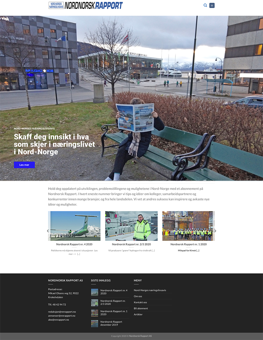 Webside Nord-Norsk Rapport